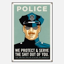 Police Protect & Serve Banner