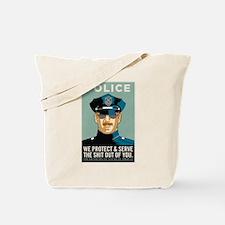 Police Protect & Serve Tote Bag