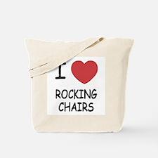 I heart rocking chairs Tote Bag