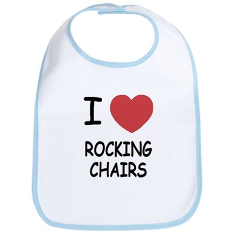 I heart rocking chairs Bib