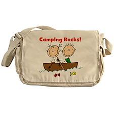 Camping Rocks Messenger Bag