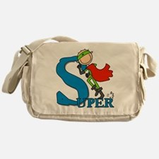 Super Stick Figure Hero Messenger Bag