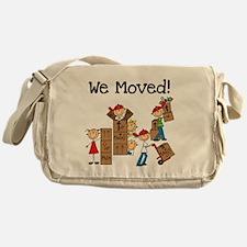 Unpacking We Moved Messenger Bag