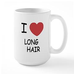 I heart long hair Large Mug
