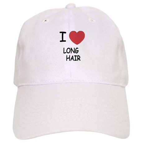 I heart long hair Cap
