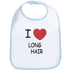I heart long hair Bib