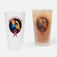 BreastCancer WeCanDoIt Drinking Glass