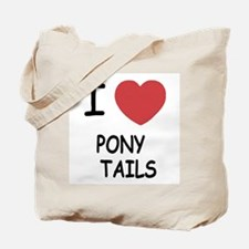 I heart pony tails Tote Bag