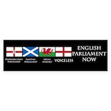 English Parliament Now Bumper Car Sticker