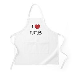 I heart turtles Apron