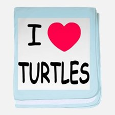 I heart turtles baby blanket