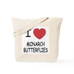 I heart monarch butterflies Tote Bag