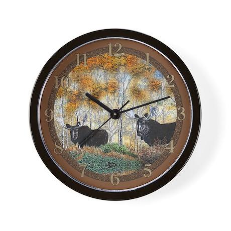 Moose oil 2 Wall Clock