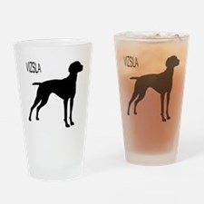Vizsla Silhouette Drinking Glass