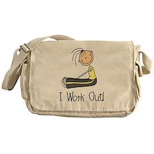 Female I Work Out Messenger Bag