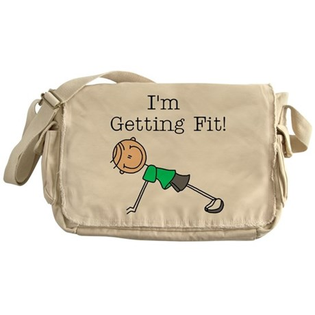 I'm Getting Fit Messenger Bag