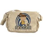 Girls Soccer Messenger Bag
