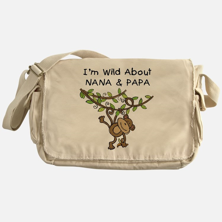 Wild About Nana & Papa Messenger Bag
