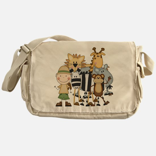 Boy on Safari Messenger Bag