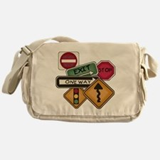 Road Signs Messenger Bag