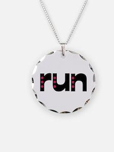 run - pink polka dots Necklace