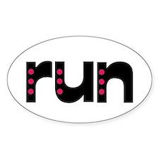 run - pink polka dots Decal