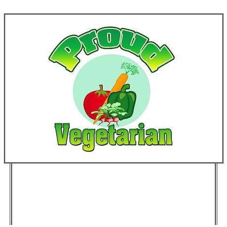 Proud Vegetarian Yard Sign