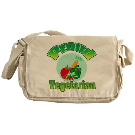 Proud Vegetarian Messenger Bag
