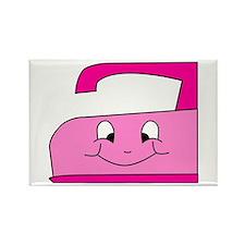 Hot Pink Iron Rectangle Magnet