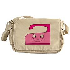 Hot Pink Iron Messenger Bag