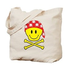 Smiley Skull Tote Bag