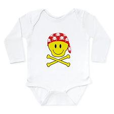 Smiley Skull Long Sleeve Infant Bodysuit