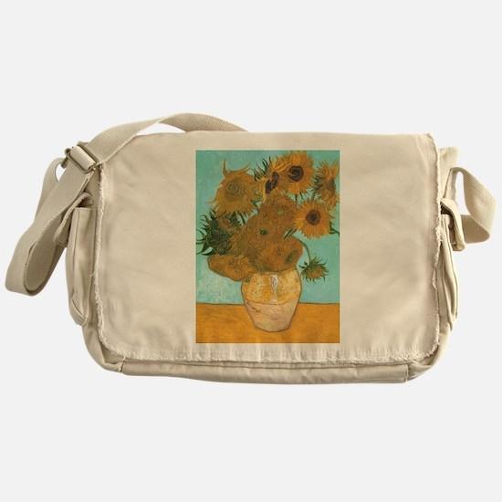 Van Gogh Vase with Sunflowers Messenger Bag