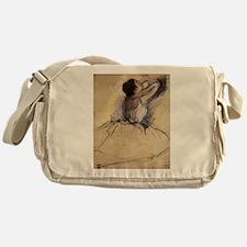 The Dancer by Edgar Degas Messenger Bag