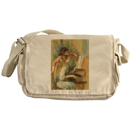 Young Girls at the Piano by Renoir Messenger Bag