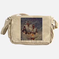 Vintage Christmas North Pole Messenger Bag