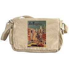 Vintage Travel Poster San Francisco Messenger Bag