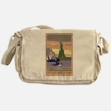 Vintage Travel Poster New York City Messenger Bag