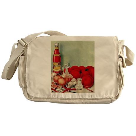 Vintage Italian Foods Messenger Bag