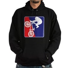 Red White and Blue BMX Bike Rider Hoodie