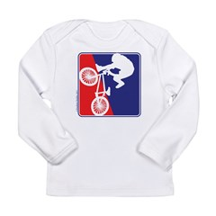 Red White and Blue BMX Bike Rider Long Sleeve Infa
