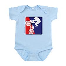 Red White and Blue BMX Bike Rider Infant Bodysuit