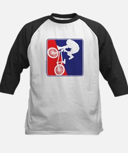 Red White and Blue BMX Bike Rider Tee