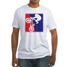 Red White and Blue BMX Bike Rider Shirt