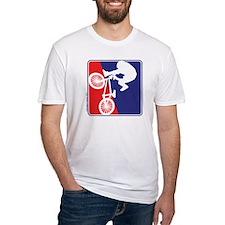 Red White and Blue BMX Bike Rider Shirt