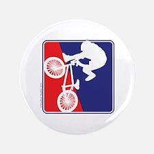 "Red White and Blue BMX Bike Rider 3.5"" Button"