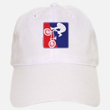 Red White and Blue BMX Bike Rider Baseball Baseball Cap