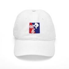 Red White and Blue BMX Bike Rider Baseball Cap
