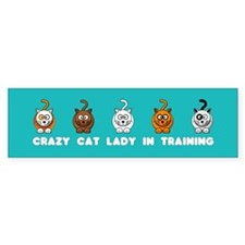 Crazy Cat Lady In Training Sticker (Bumper)