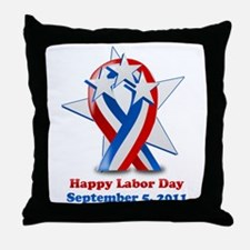 Labor Day 2011 Throw Pillow